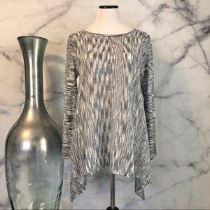 3/$20 NWT Knox Rose Blue Marled Sweater Medium